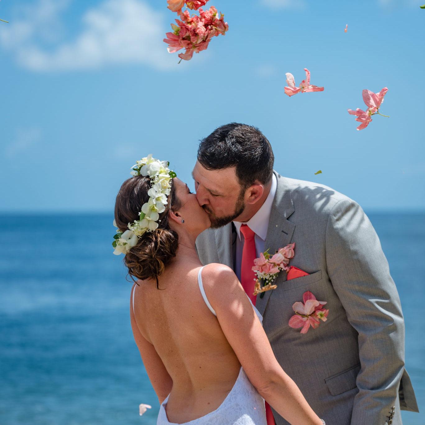 barefoot wedding st lucia caribbean